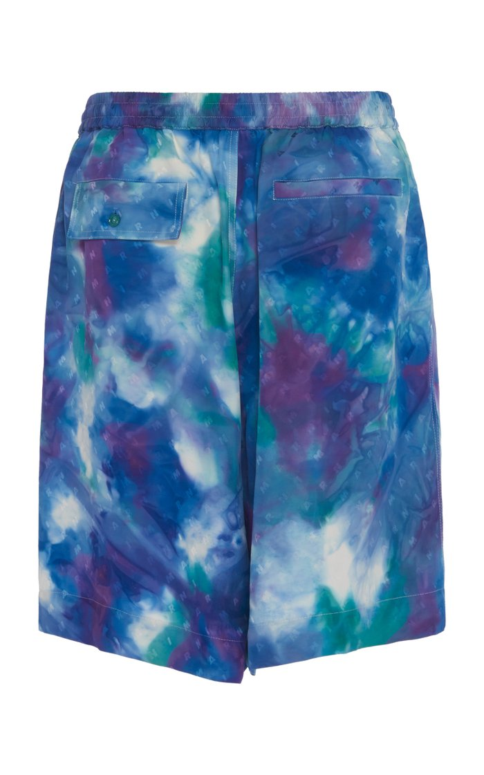 Tie-Dyed Shell-Jacquard Shorts