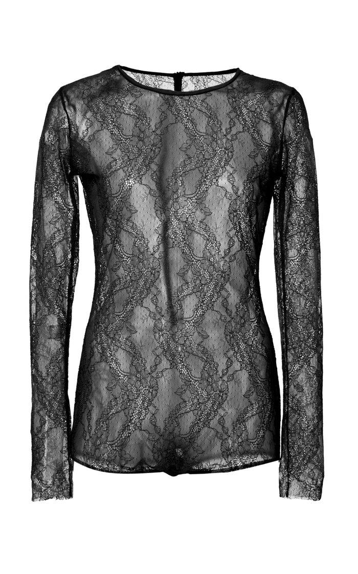 Stretch-Lace Bodysuit