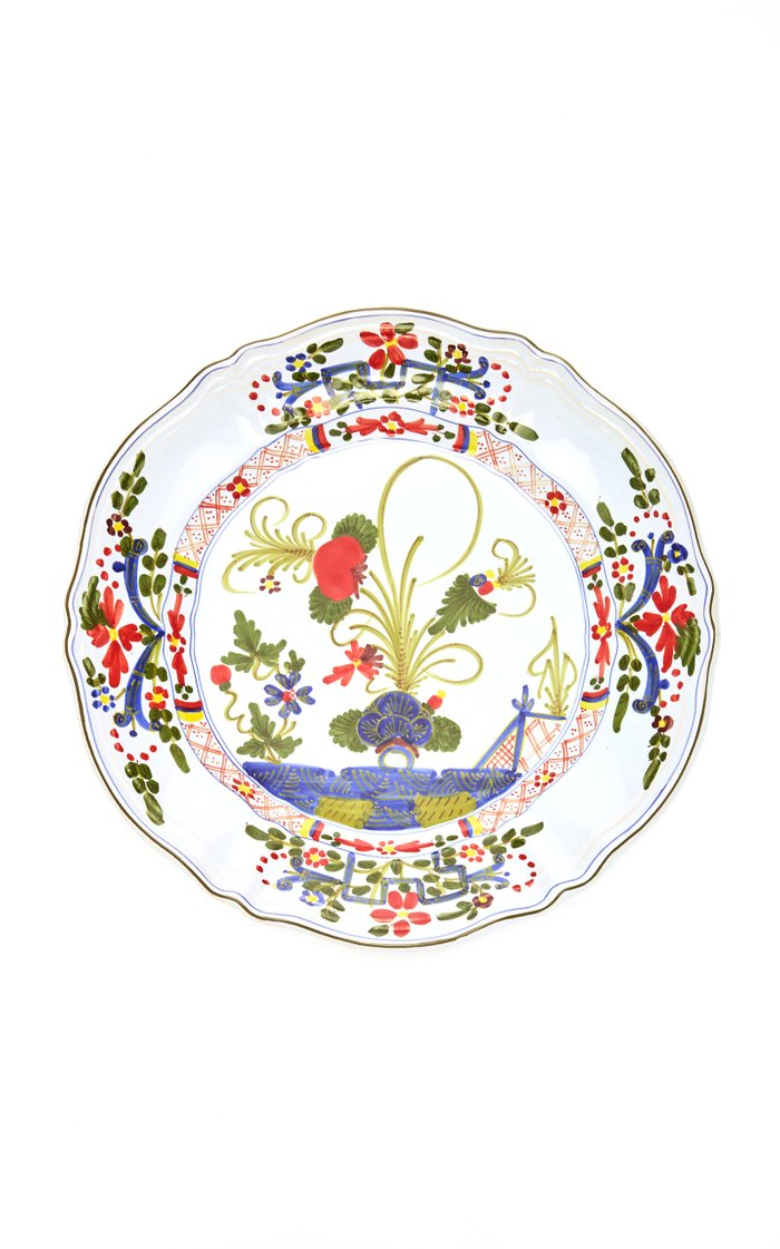 Set-Of-Four Porcelain Dinner Plates