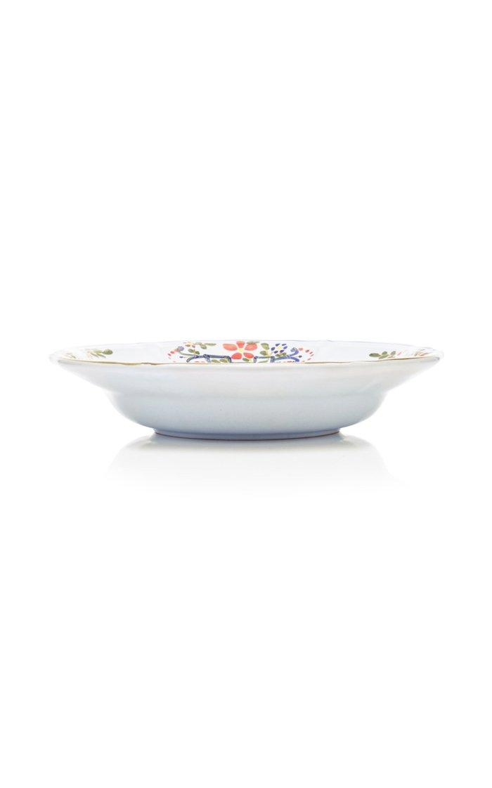 Set-Of-Four Porcelain Soup Plates