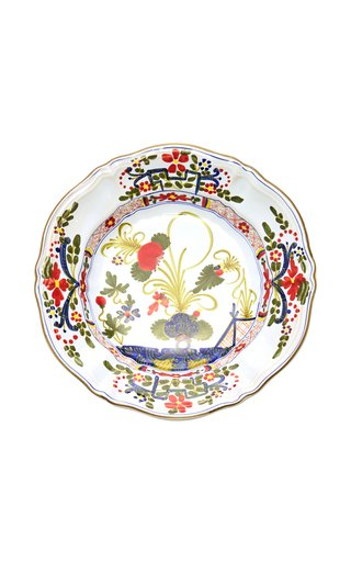 Set-Of-Four Porcelain Soup Plates