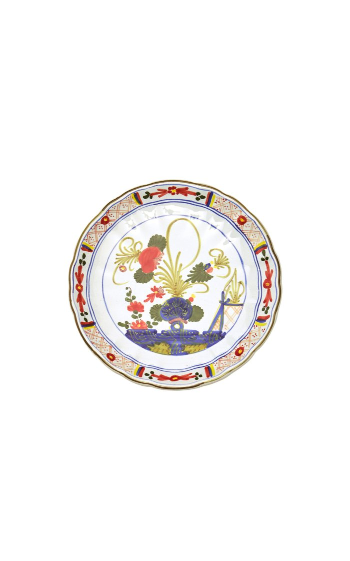 Set-of-Four Carnation Bread Plate