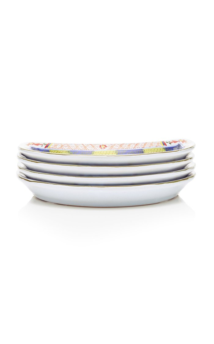 Set-of-Four Carnation Crescent Salad Plates