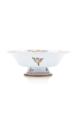 Carnation Footed Serving Bowl