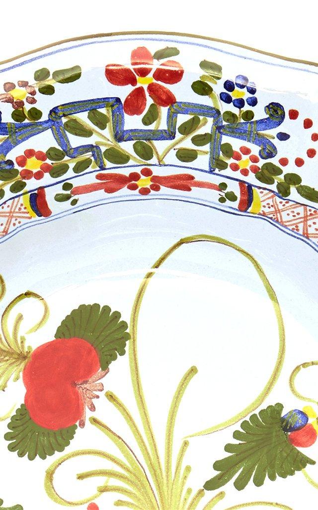 Carnation Footed Serving Bowl