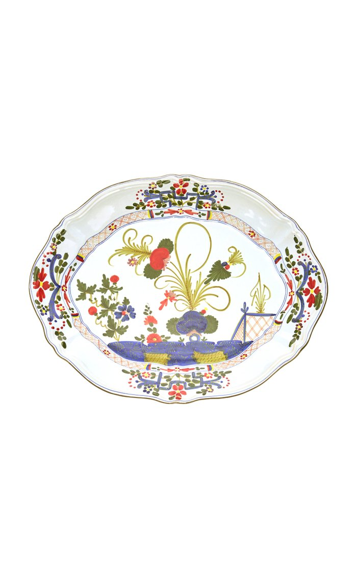 Carnation Oval Porcelain Platter
