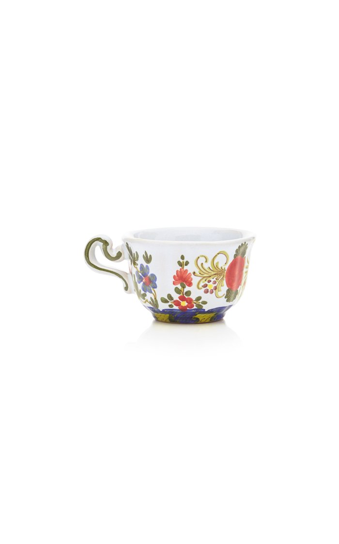 Set-Of-Four Carnation Teacups and Saucers