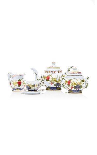 Carnation Porcelain Tea Set (17 PC)