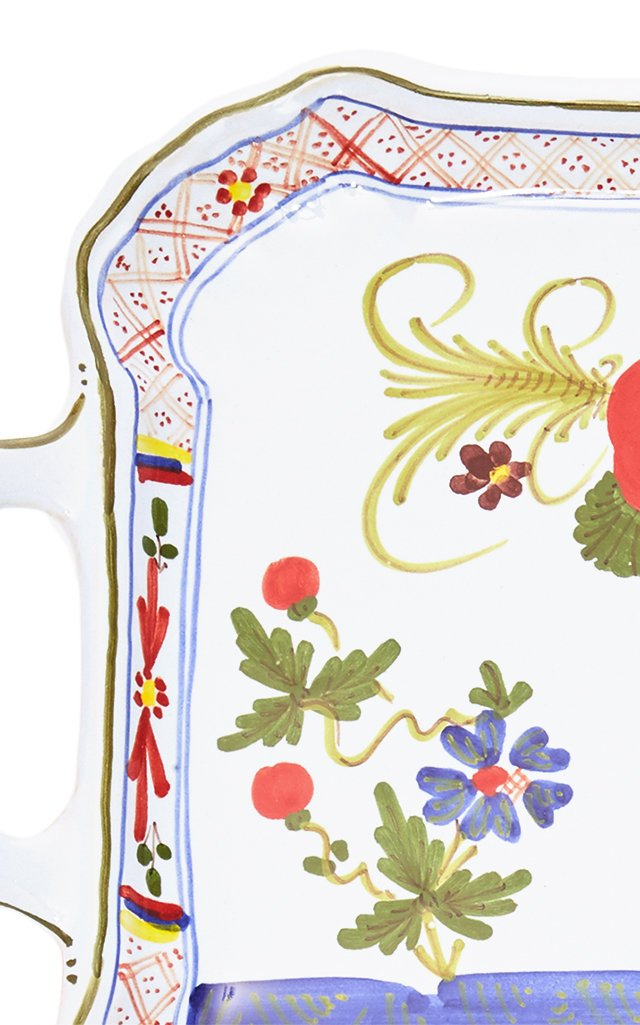 Carnation Porcelain Serving Tray