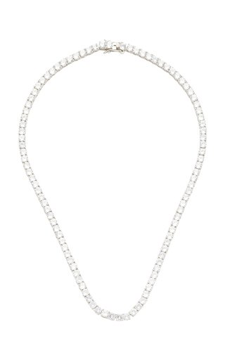 Gold-Tone And Crystal Necklace