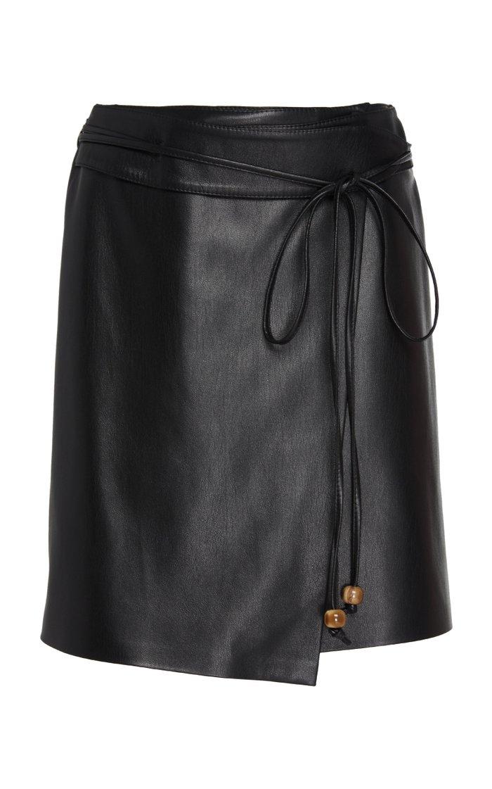 Sekoya Faux Leather Wrap Skirt