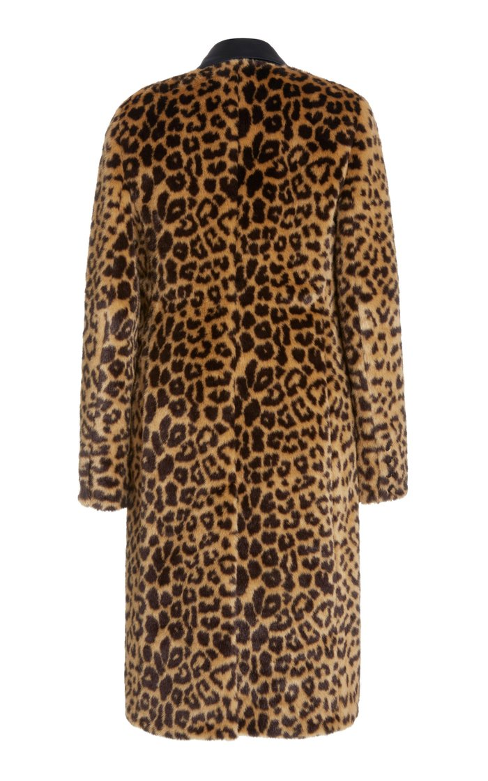 Leopard-Print Faux Fur Coat