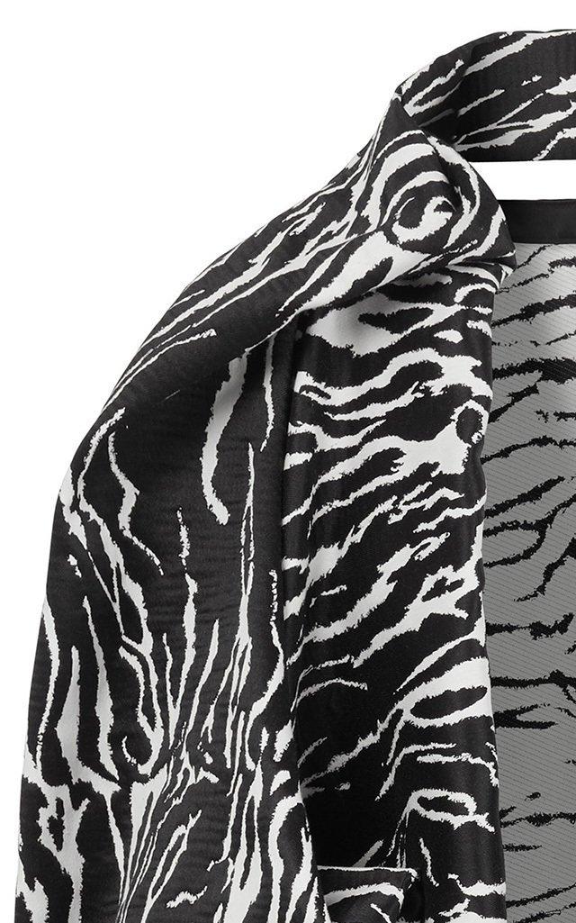 Geranium Zebra-Jacquard Coat