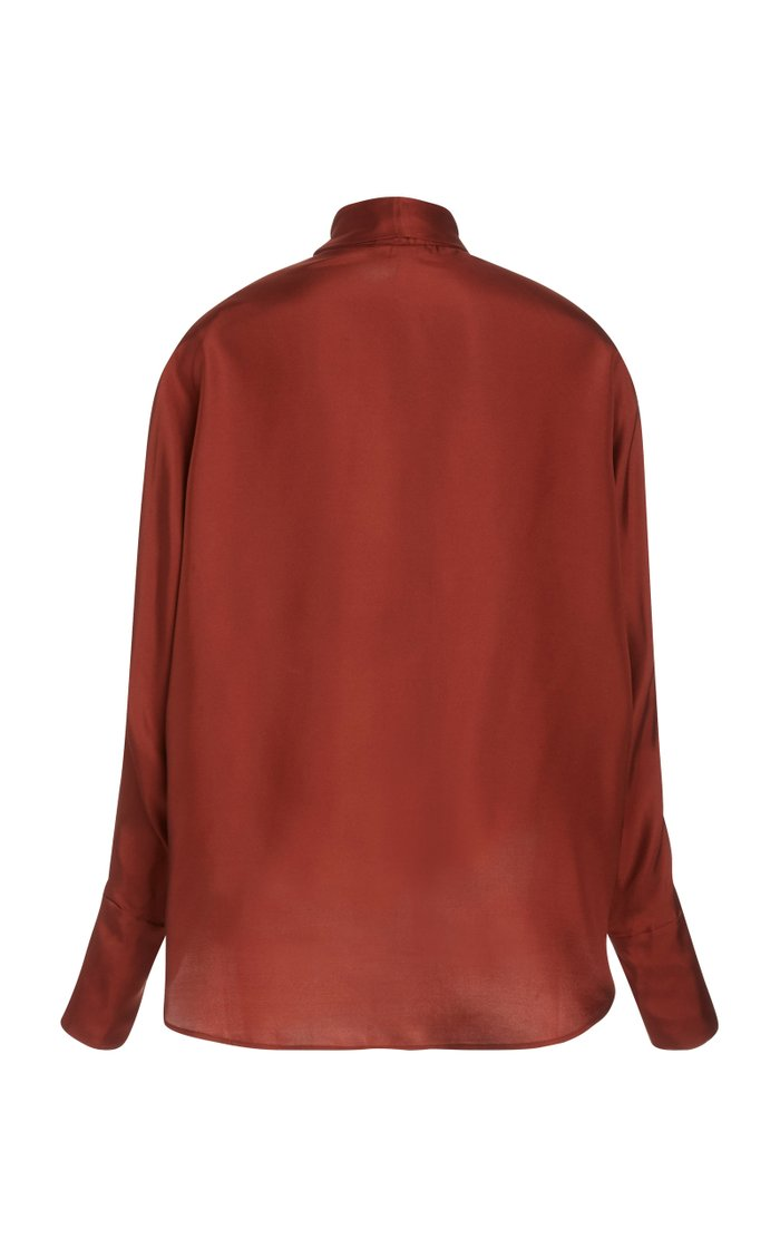 Connor Scarf-Detailed Silk Blouse