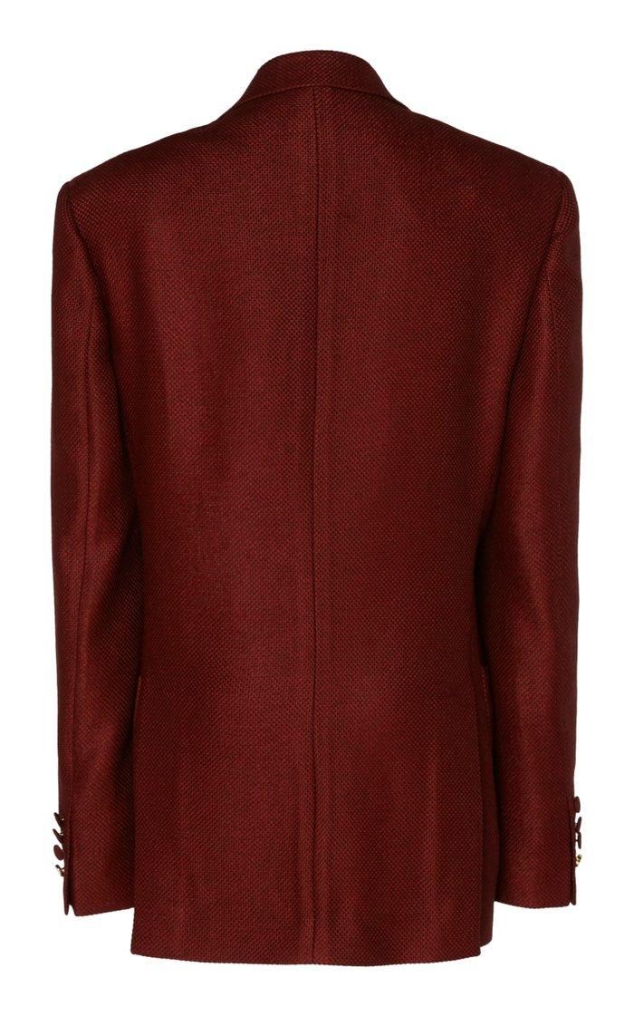 Jucy Wool And Silk-Blend Crepe Blazer