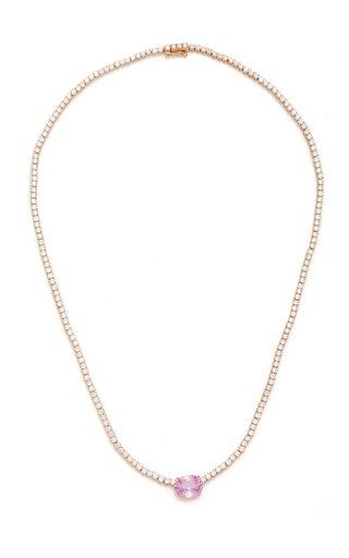 Hepburn 18K Rose Gold, Sapphire, and Diamond Choker
