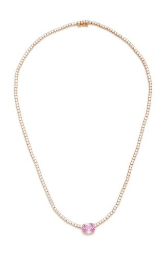 Hepburn 18K Rose Gold, Sapphire, and Diamond Choker