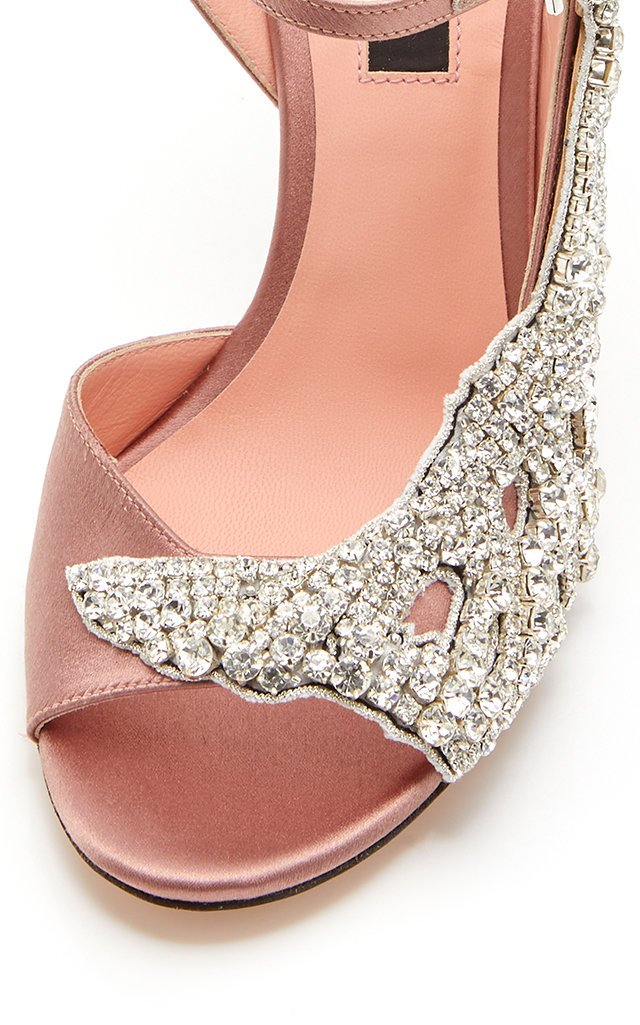 Crystal Satin Sandals