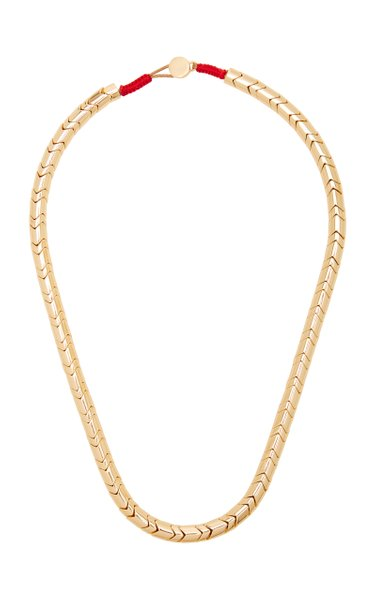 Peacoat Wave Gold-Tone Necklace