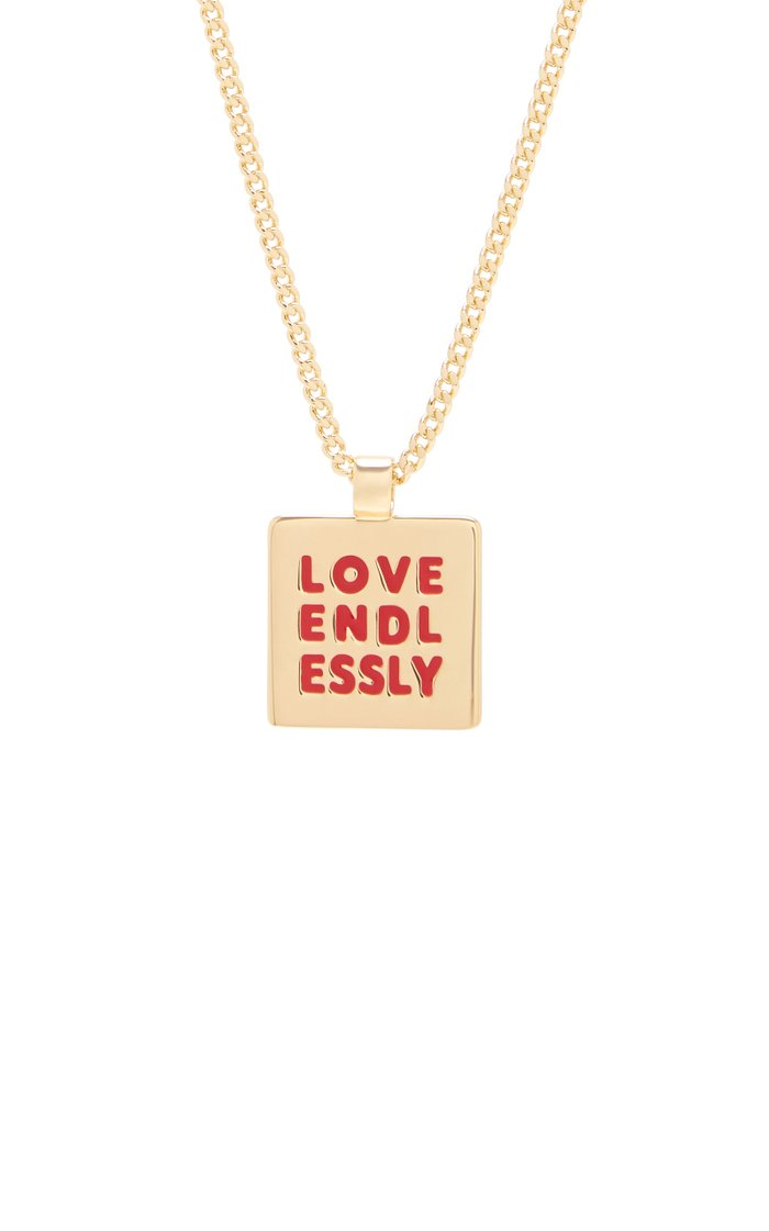 Love Endlessly Gold-Tone Necklace