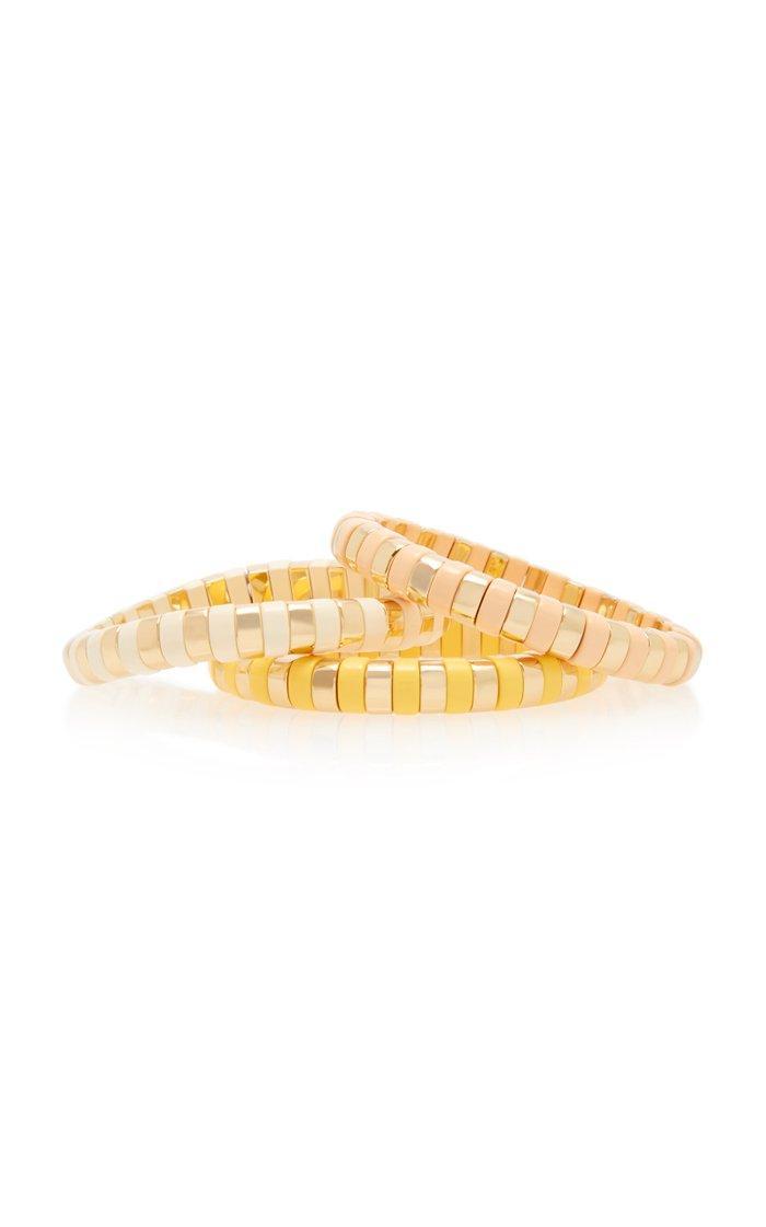 Sunrise Gold-Tone and Enamel Bracelets