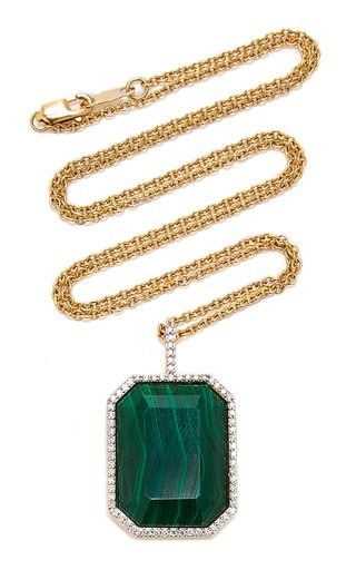 18K Gold, Diamond And Stone Necklace