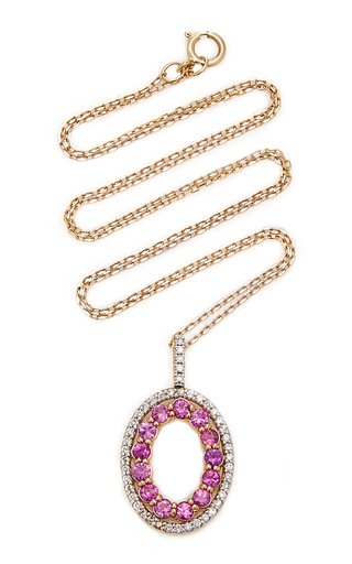 Gold And Pink Sapphire Necklace