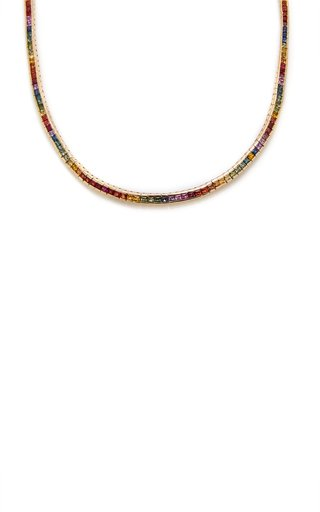 Gold And Sapphire Necklace