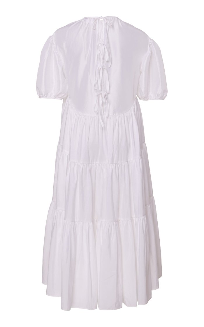 Esme Balloon Sleeve Poplin Midi Dress