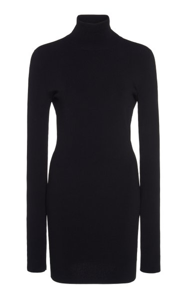 Fitted Jersey Mock-Neck Top
