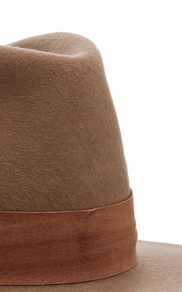 Alara Suede-Trimmed Wool Fedora