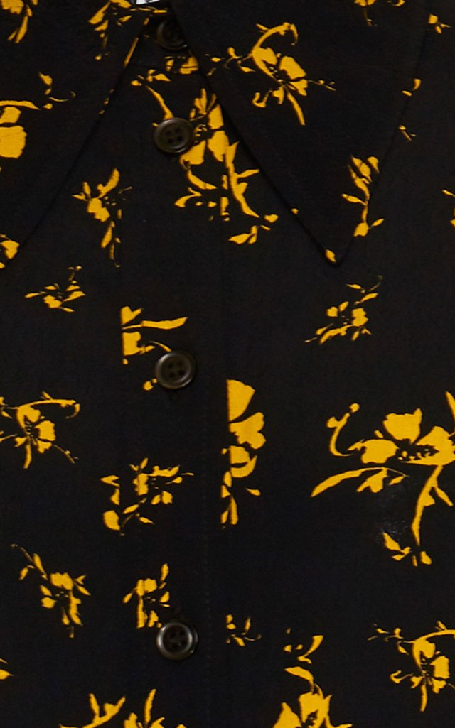 Floral-Printed Crepe De Chine Mini Dress