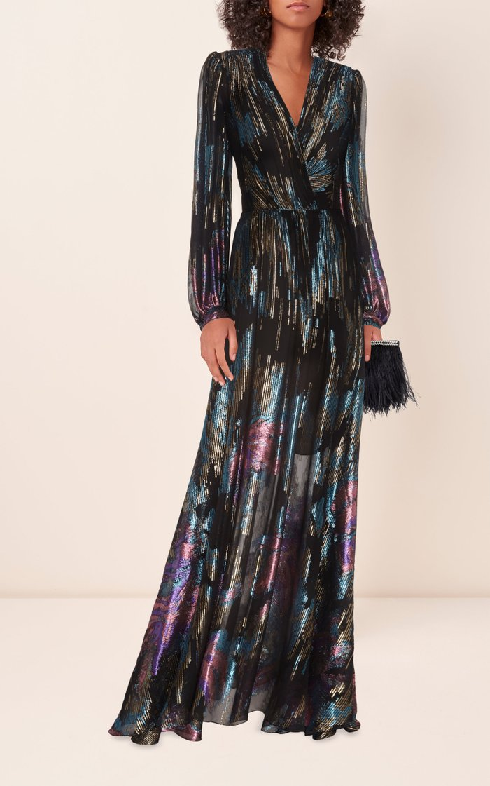 Fireworks Fil Coupe Gown