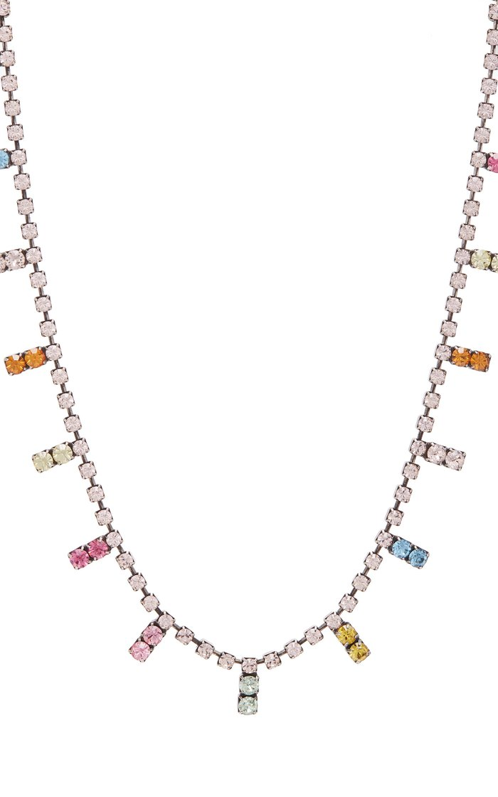 Nepture Rainbow Brass and Crystal Necklace