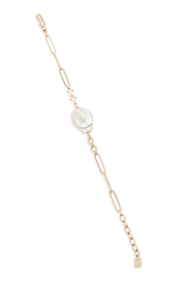Helene 10K Gold Plated Brass and Pearl Bracelet