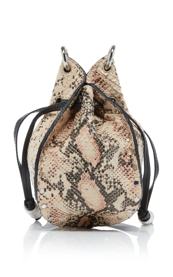 Radji Snake-Effect Leather Bucket Bag