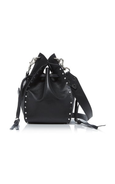 Taj Studded Leather Bucket Bag