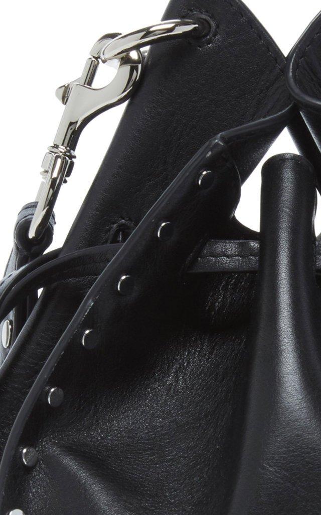 Taj Studded Leather Bucket Bag