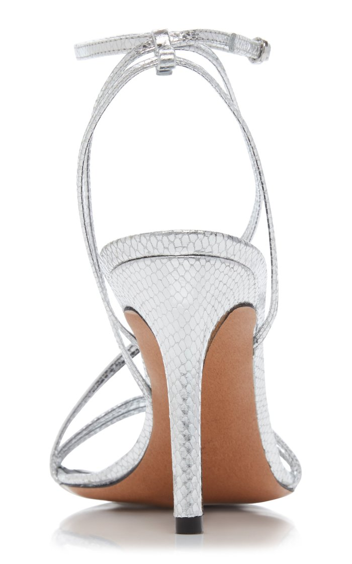 Axee Snake-Effect Leather Sandals