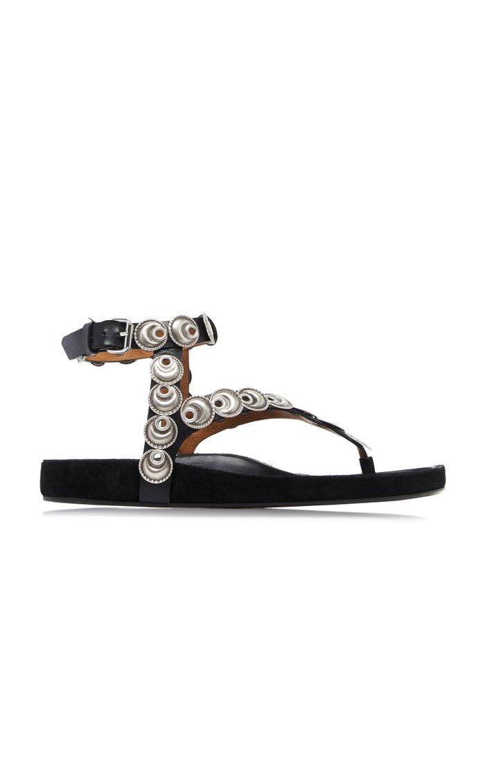 Eldo Embellished Leather Sandals
