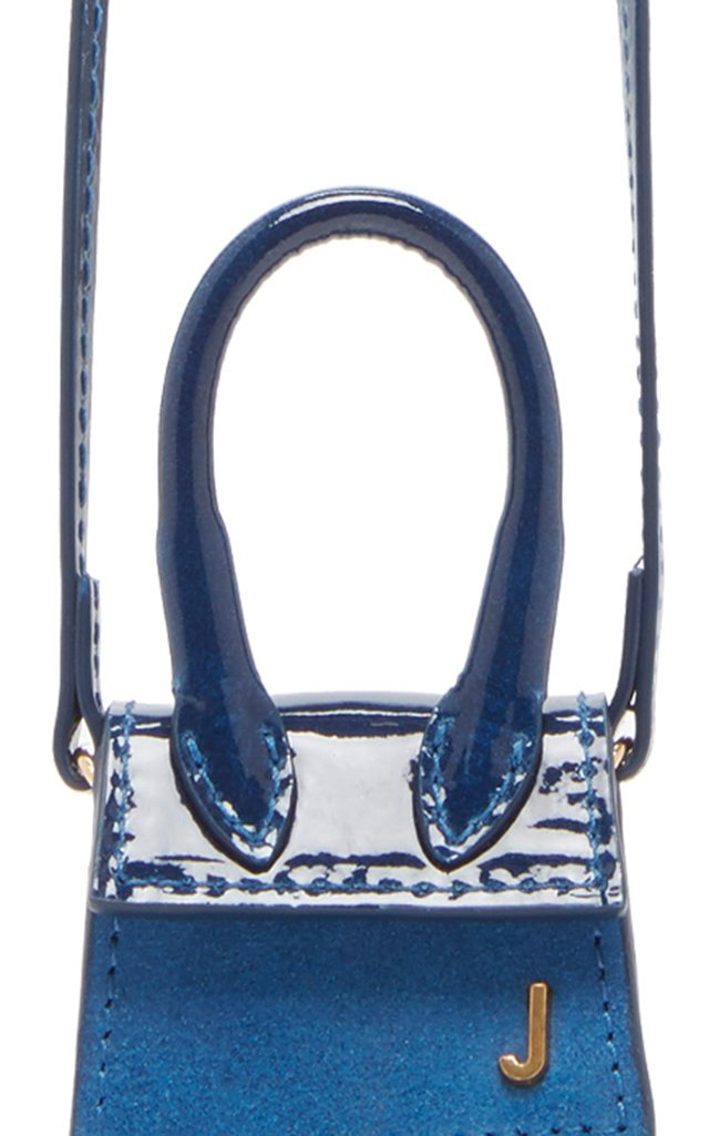 Le Petit Chiquito Ombré Patent-Leather And Suede Bag
