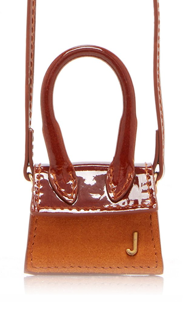 Le Petit Chiquito Patent-Leather And Suede Bag