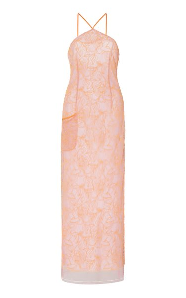 La Robe Lavandou Chiffon Midi Dress