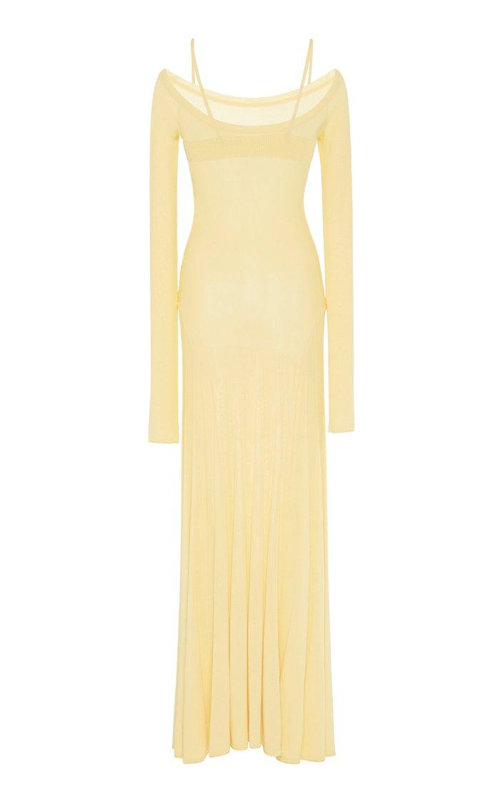 Off-The-Shoulder Jersey Maxi Dress
