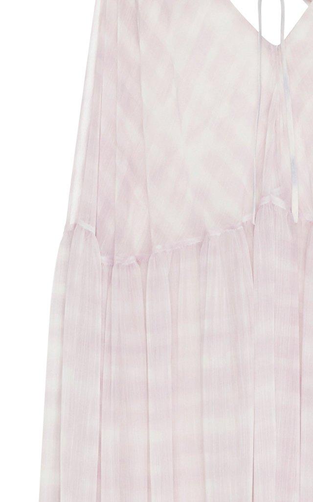 La Robe Mistral Checked Chiffon Maxi Dress