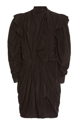 Bruna Necktie Silk Mini Dress