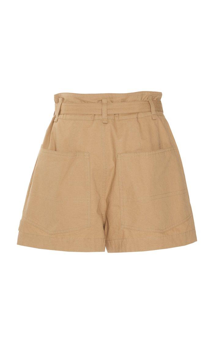 Ike Belted Cotton-Gabardine Shorts