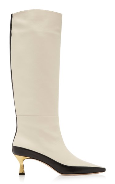 Bente Two-Tone Leather Knee Boots
