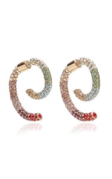 Luna Rainbow Pave Crystal Earrings