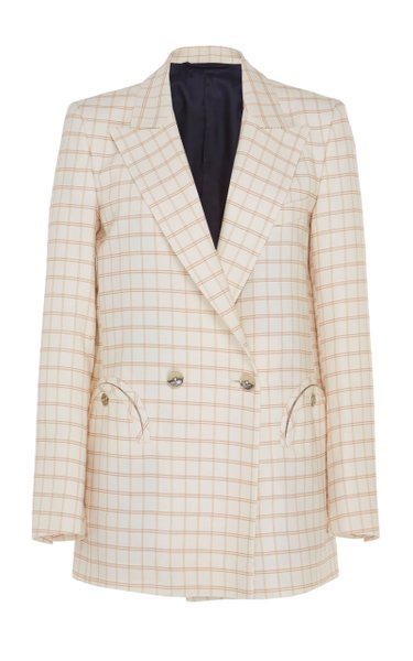Berenice Checkered Double Breasted Blazer